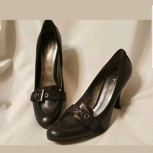 Nine west classic pump 8 M Mileage black buckle
